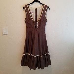 Vintage '70s Malco Modes SF Prairie Dress M